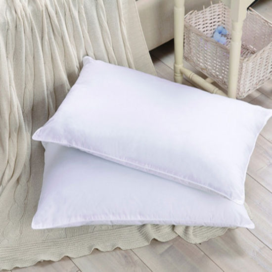 Siliconized Fiber 7D Virgin 100% Cotton Pillow pictures & photos