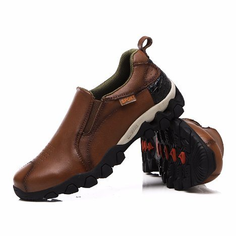 2019 Stylish Men Running Shoes Outdoor Sneakers Lightweight Comfortable Handmade Men Breathable Sport Shoes Leather
