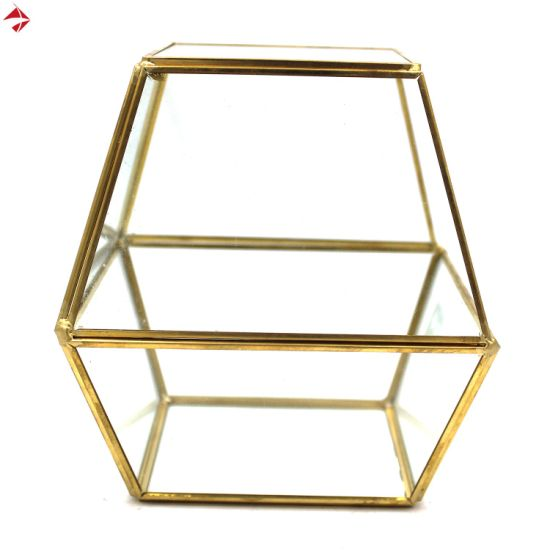 China Glass House Terrarium Geometric Container For Planter