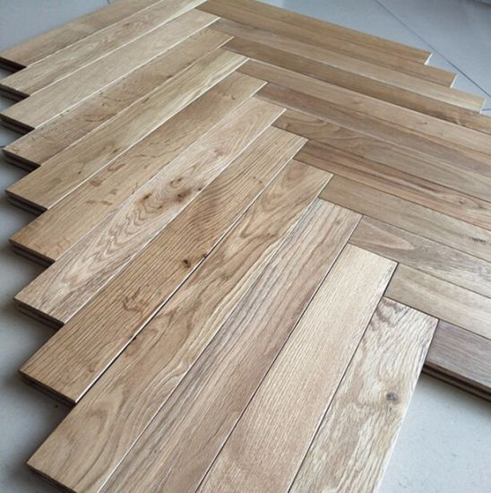 China Abc Grade European Oak Hardwood Flooring Herringbone Parquet