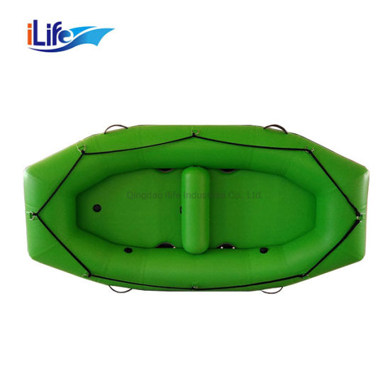 Ilife 2 Person Raft 2.7m PVC/Hypalon Inflatable White Water Raft Boat Fishing Whitewater River Drop Stitch Floor Self Baling Paddle Rafting