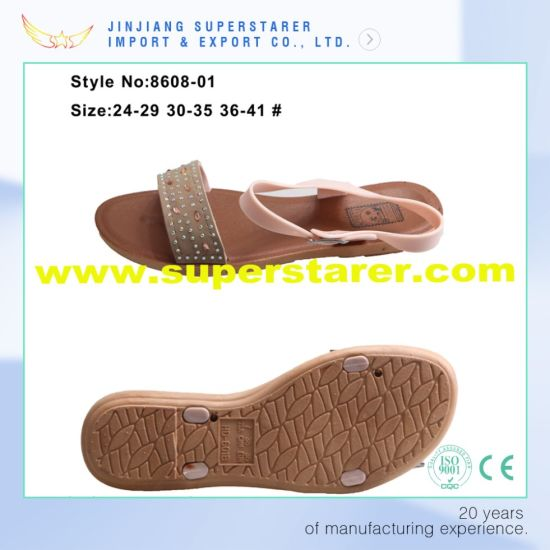 China PVC Casual Women Sandals, Fashion Open Toe Funky Ladies Sandals pictures & photos