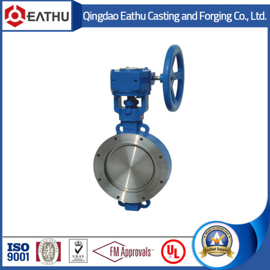 Double Flange Butterfly Valve with Gear Box pictures & photos