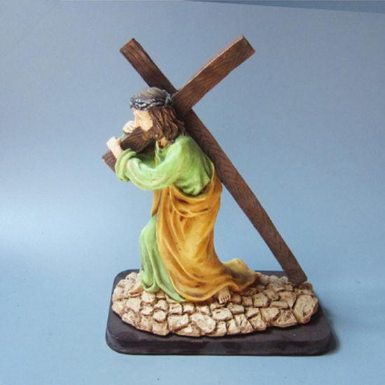 Jesus Carrying The Crucifix Statue Christ Figure Catholic Religious Decor