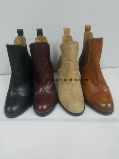 Lady Leather British Wind Restoring Ancient Ways Rubber Ankle Boots Is a Pedal pictures & photos
