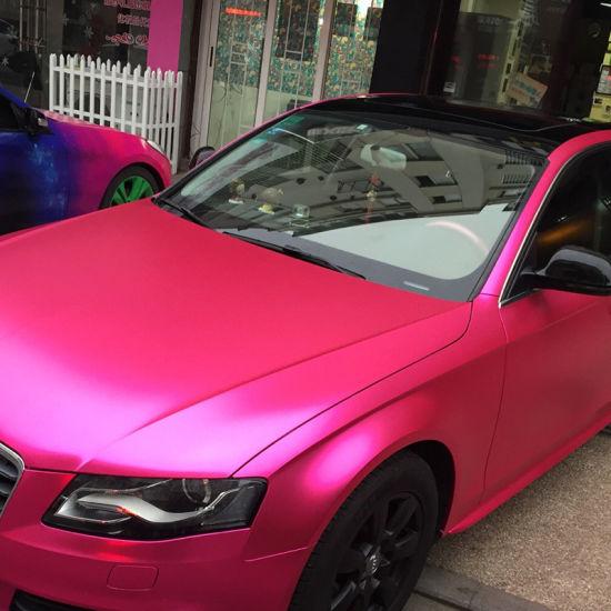 5c4cf48154 Tsautop New Arrival 1.52*20m Air Bubble Free Self Adhesive PVC Matte Satin  Chrome Car