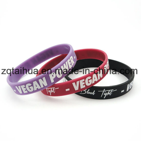 Custom Cheap Silicone Wristband with Thb-047 pictures & photos