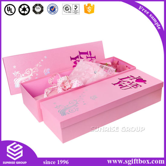 Luxury Packaging Paper Flower Candy Rectangle Gift Box pictures & photos