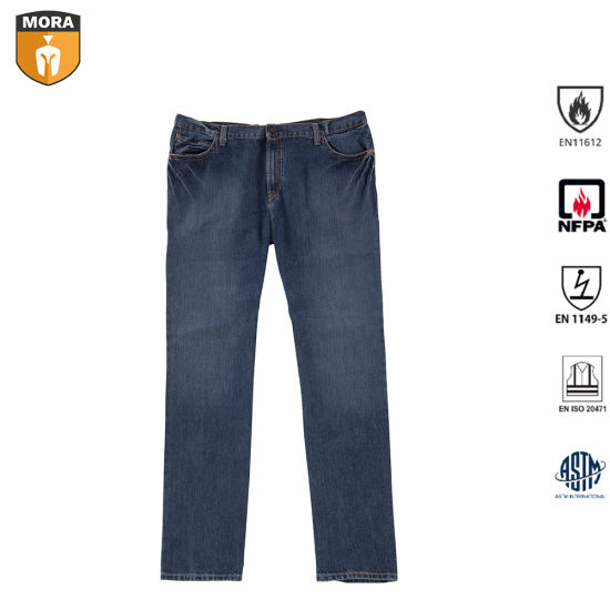 Safety Outdoor Flame Resistant Denim Jeans pictures & photos