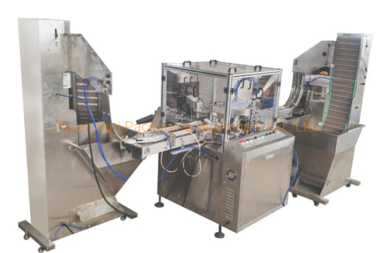 Automatic 2 Parts Plastic Cap 2 Components Edible Oil Cap Assembly Machine Close Machinie
