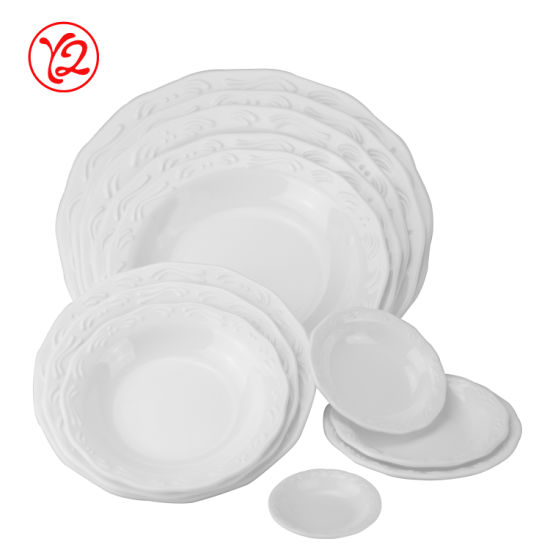 Top Grade Ceramic Like Restaurant Arcfresh Dinnerware Oval Plates Dinner Set 039 Solid Color