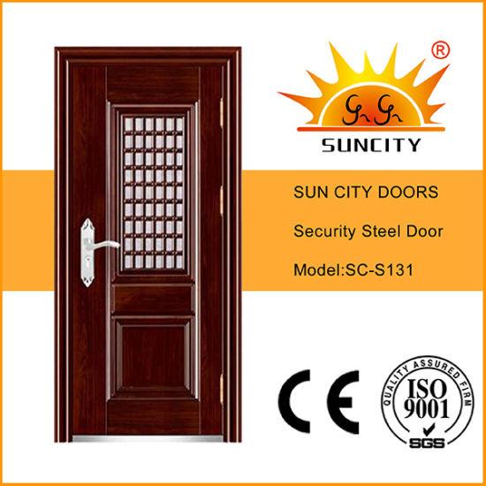 Best Price Steel Door in Door with Grill Design (SC-S131)