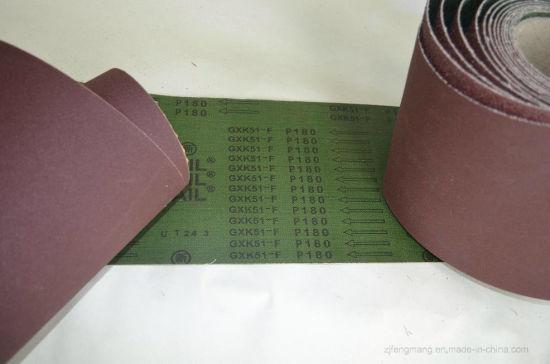 Waterproof Calcined Aluminum Oxide Abrasive Cloth/Belt Gxk51-F