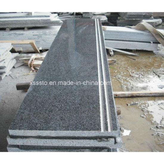 Cheap Natural Dark Grey Granite Step Stair for Ladder