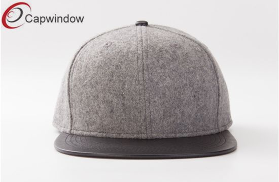 8c841f082b6 Blank Melton Wool   Leather Sport Leisure Baseball Snapback Hat pictures    photos