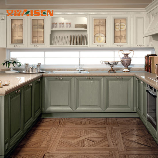 Kitchen Cabinet Supplier In: China Suppliers New Model Classic Solid Wood Kitchen