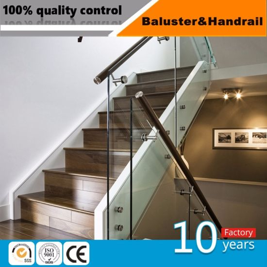 Building Material Stainless Steel Balustrade And Handrail Glass Railing  Staircase