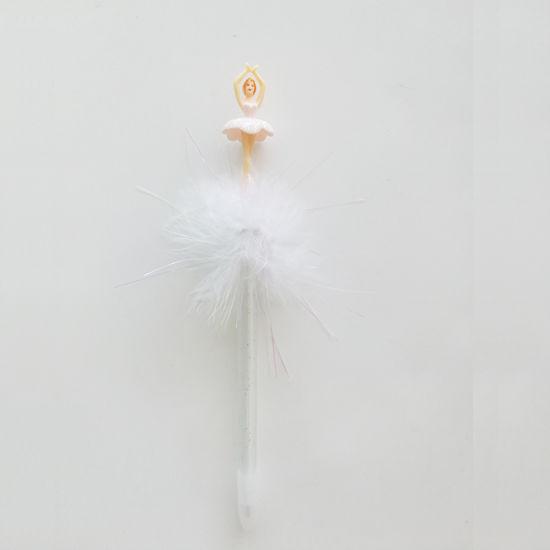 China New Design Ballerina Topper Wedding Gift Feather Ball Pen