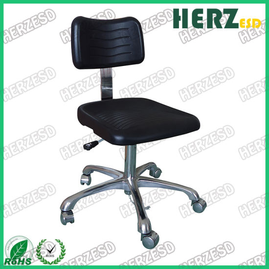 Anti-Static Lab PU Leather Cleanroom ESD Work Chair for Clean Room
