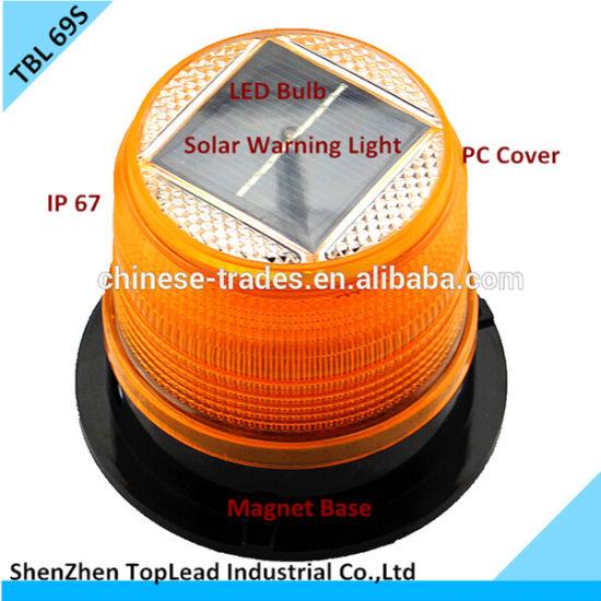 LED Solar Warning Light Magnet Base Solar Strobe Warning Light Tbl 69s