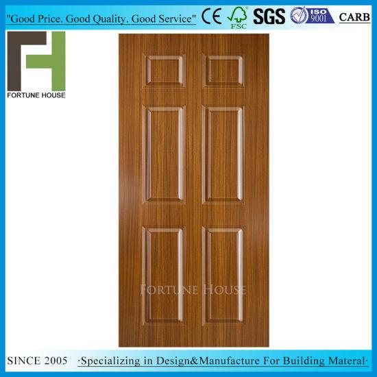 Laminated Mould MDF Interior Melamine Door Skin