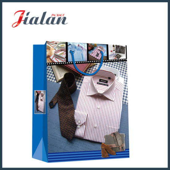 Wholesale 4c Printed M′s Shirt Gift Packing Shopping Paper Bag pictures & photos
