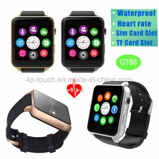 Fitness Tracker Waterproof Smart Watch with Heart Rate Monitor Gt88 pictures & photos