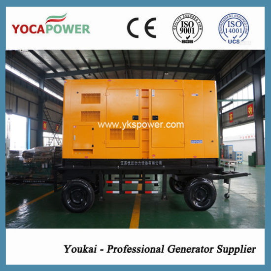 250kVA/200kw Mobile Soundproof Electric Diesel Generator pictures & photos