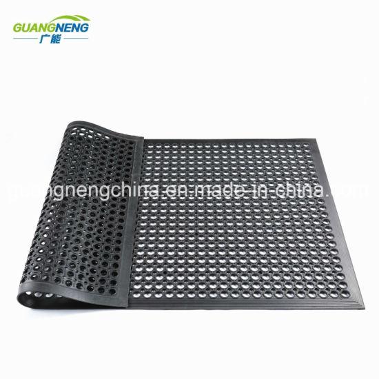 Wholesale Wear Resistant Hotel Rubber Mat Anti-Fatigue Drainage Rubber Mat Kitchen Rubber Floor Mat