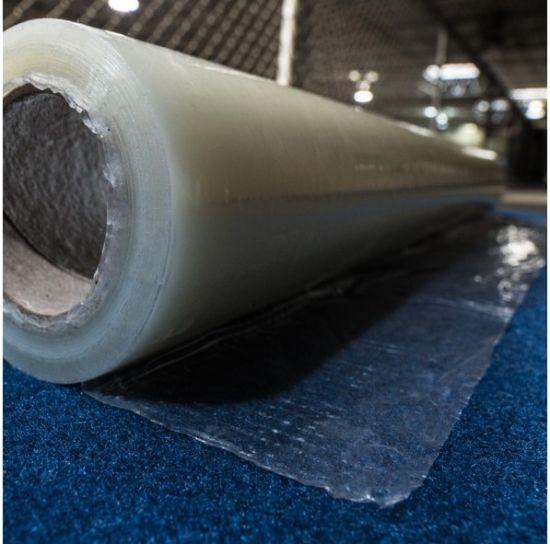 China Hot Sale Transparent PE Protection Film Hotel Carpet