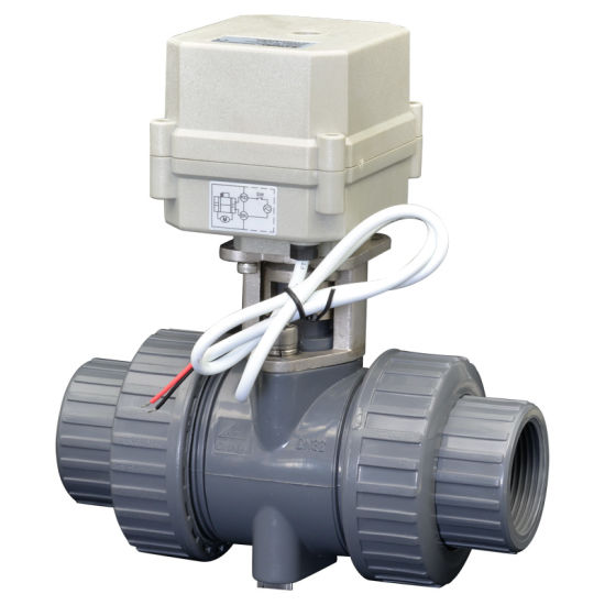 Banjo Electric 3 Way Directional Ball Valve: China 2 Way Electric Flow Control PVC Ball Valve Motorized