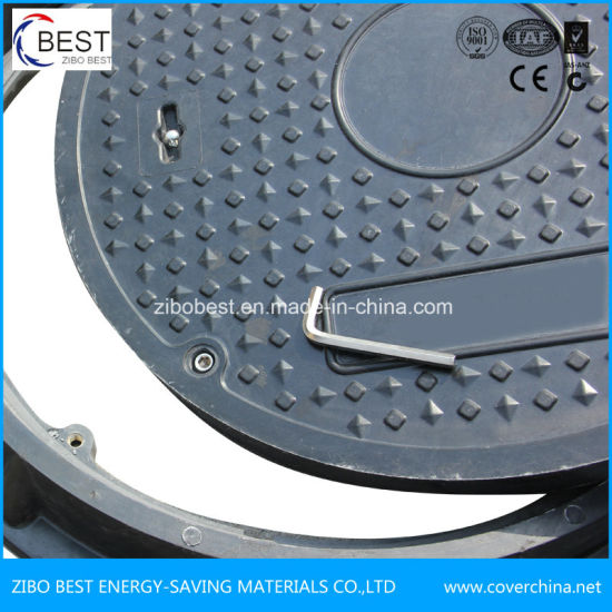 C250 Round SMC FRP Septic Tank Manhole Cover Double Seal pictures & photos