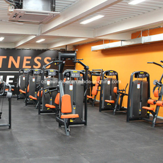 China Fitness Center Rubber Flooring Tiles With White Epdm Flecks