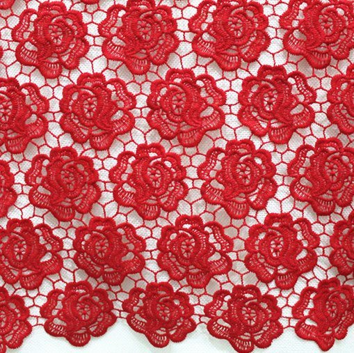 Milk Yarn Embroidered Flower Lace Textile for Women's Clothes
