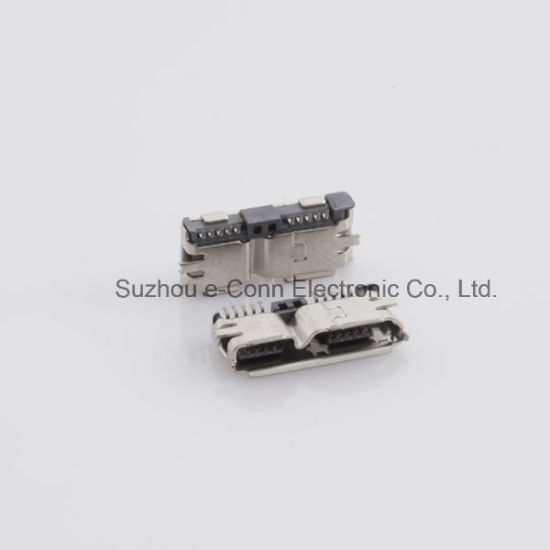 Micro USB 3.0 Mounted SMT Type Connector pictures & photos
