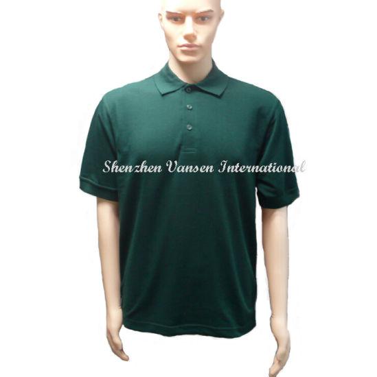 96dd839a China Dark Green Short Sleeve Men′s Polo Shirt - China Polo Shirt ...