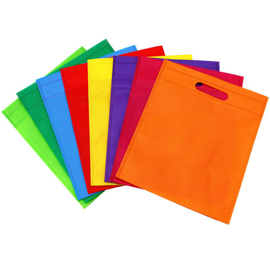 Wholesale Custom Design Colorful Gift Tote Die Cut Promotional Reusable Non Woven Bags