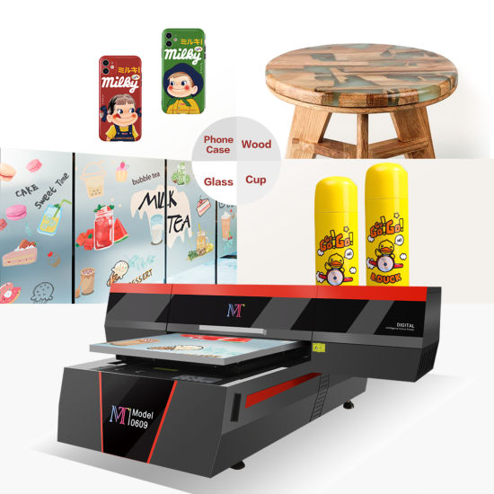 Mt Mtutech Small Size Digital Bottle /Phone Case /Pad Printing Machine UV Flatbed Printer Used for Various Promotional Items