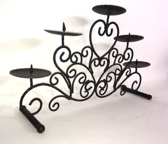 Cast Iron Antique Candle Holder of Customized Metal Crafts