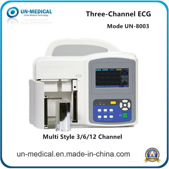 Chinese Medical Clinic 3 Channel Digital ECG with Automatic Interpretation