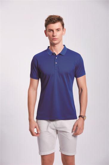 Wholesale Custom Cotton Basic Plain Dyed Custom Embroidery Logo Mens Cheap Short-Sleeve T-Shirt Polo
