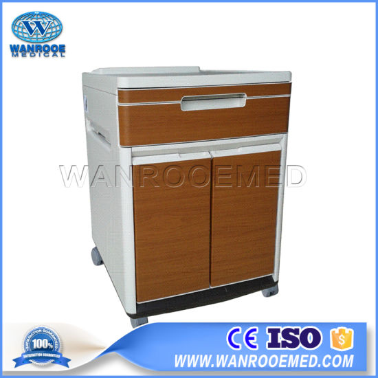 Bc013 Wooden Color Hospital ABS Medical Bedside Cabinet Locker pictures & photos