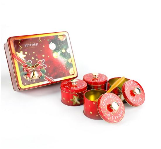 Custom New Small Gift Rectangular Round Metal Tin Box for Tea Package pictures & photos