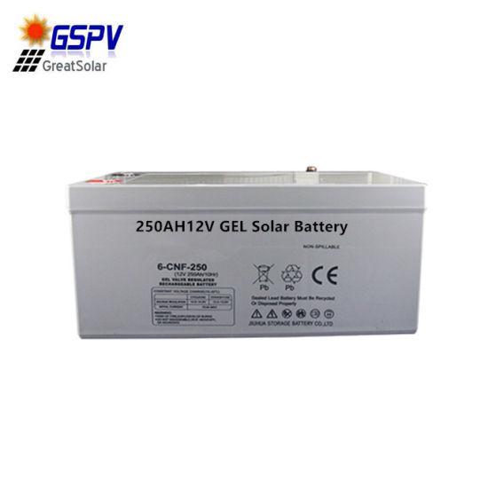 12V250ah Gel Solar Battery 5-8 Years Long Lifespan