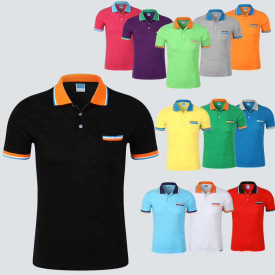 Polyester Spandex Sport Dry Fit Polo T-Shirts Stock Women&Men Golf Polo Shirt