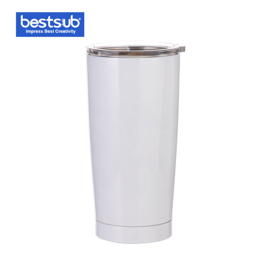 Bestsub Sublimation 20oz Stainless Steel Tumbler Mug Water Bottle Cup (White) (BYETIV20W)