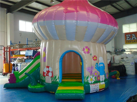 Inflatable Mushroom Model Bouncer with Slide for Outdoor pictures & photos