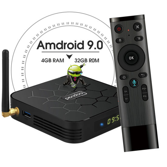 Pendoo X6 PRO Allwinner H6 Android 9 0 TV Box with Dual WiFi Antenna 4K  Fulll HD Video Play Set Top Box
