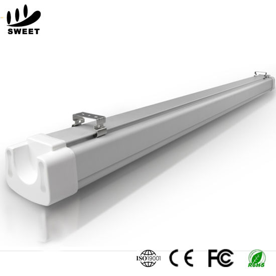Ce RoHS Approved Farm/Tunel/Food Factory/Car Parking/Cooler IP65 Triproof LED Linear Light