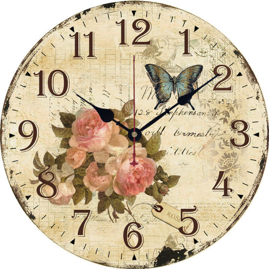 New Style Fashionable Wooden Wall Hanging Clock 30cm/34cm More Optional pictures & photos